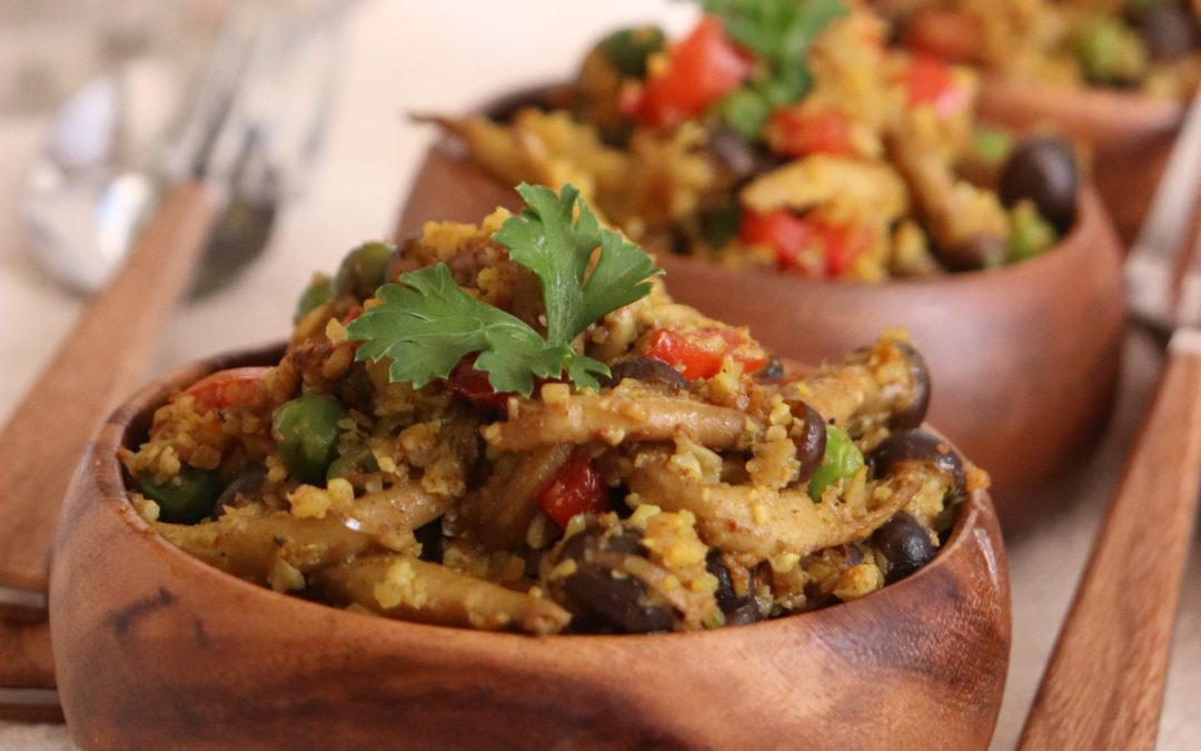 Shimeji Mushroom Cauliflower Rice
